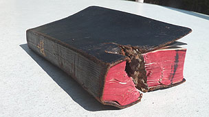 Bible that saved a soldier's life