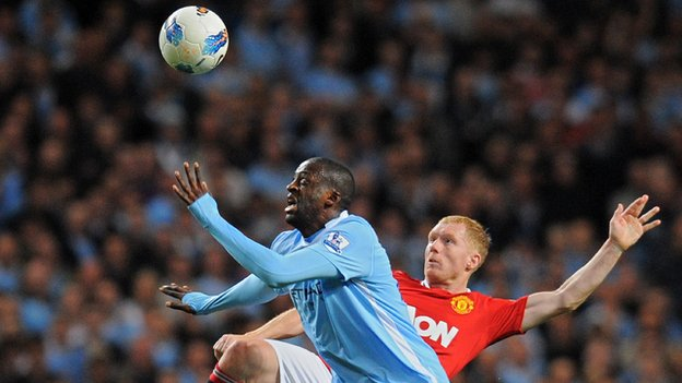 Yaya Toure against Manchester United
