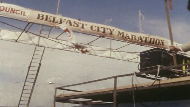 Belfast City marathon 1982 starting line