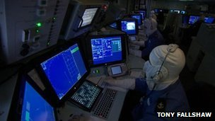 Operations room on HMS Dauntless