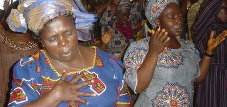 Nigerian women in deep prayer