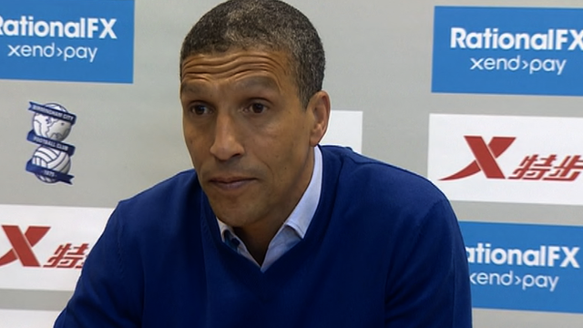 Birmingham manager Chris Hughton