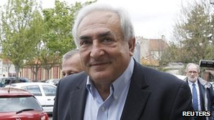 Dominique Strauss-Kahn outside a polling station in Sarcelles, France 22 April 2012
