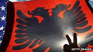 Kosovo Albanian flag