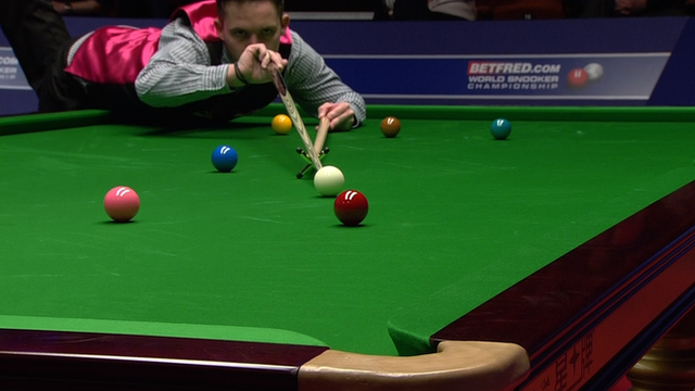 Jamie Jones produces a break of 127