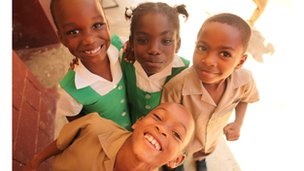 Pupils from Waldensia in Jamaica