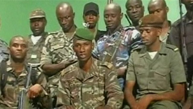 Pro-junta forces in Mali