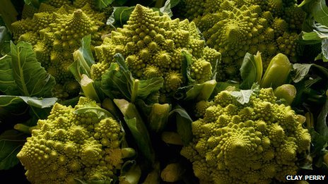 Cauliflower Romanesco from the book Heritage Fruit & Vegetables by Toby Musgrave