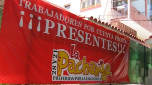 The La Pachanga restaurant supporting May Day