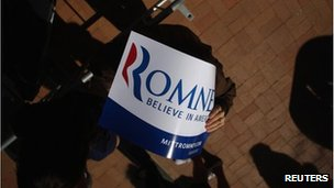 Mitt Romney sign in Tempe, Arizona 20 April 2012