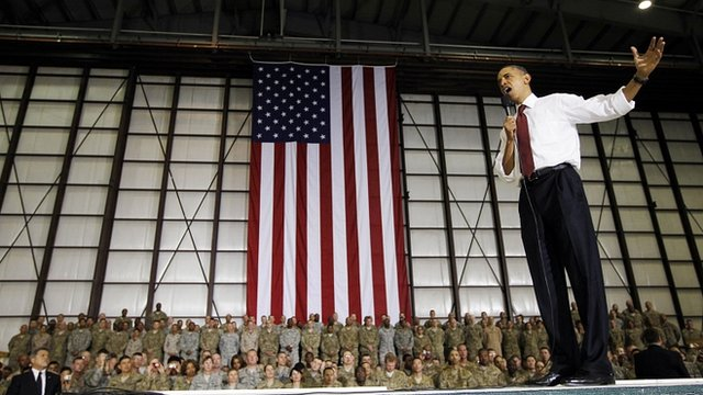 Barack Obama addresses Afghan troops