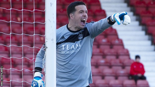 Langfield keeps goal for Aberdeen against Dunfermline on Saturday