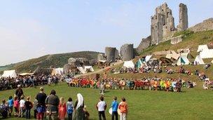 Viking re-enactment at Corfe Castle