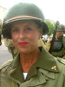 Claire Thorpe in her World War II costume