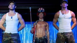 Alex Pettyfer, Matthew McConaughey and Channing Tatum in Magic Mike