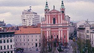 Ljubljana's town centre