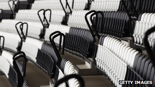 Abstract patterns in the black and white seats