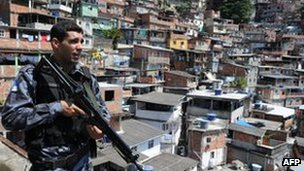 Police office in Rocinha