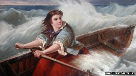 Grace Darling rowed out in a storm to help rescue people from SS Forfarshire