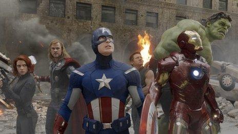 The cast of Marvel Avengers Assemble