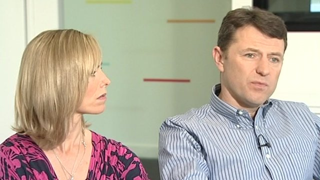 The parents of Madeleine McCann 