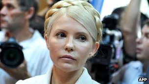 Ukrainian opposition leader Yulia Tymoshenko (file pic June 2011)