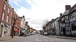 Great Oak Street in Llanidloes