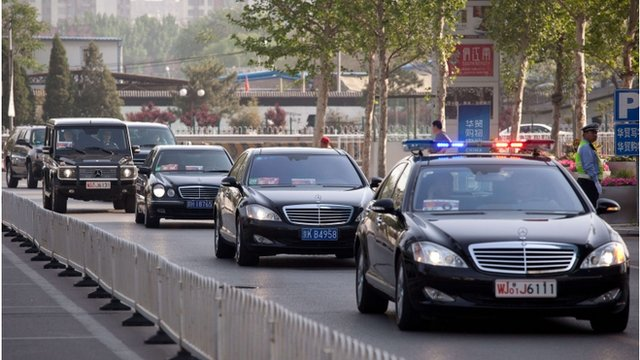 US motorcade in Beijing