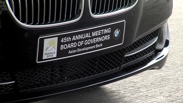 Number plate showing ADB meeting 