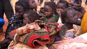 New arrivals at the Yida refugee camp in South Sudan