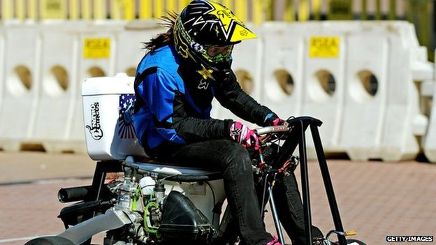 Jolene Van Vugt rides the world's fastest toilet