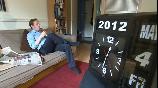 Adam Fleming and clock