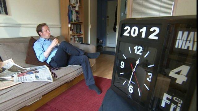 Adam Fleming and clock