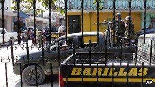 Troops in Santa Cruz Barillas