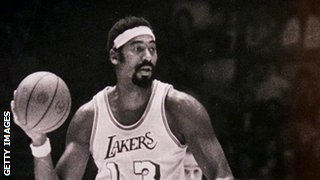 Wilt Chamberlain scores 100 points