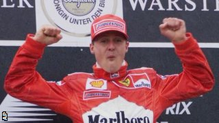 Formula One driver Michael Schumacher