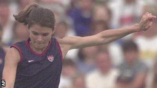 Former USA international footballer Mia Hamm