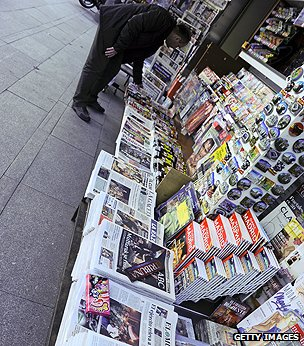 Newspaper stand 