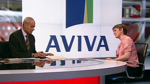Aviva chat on set