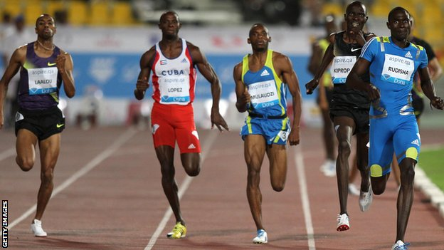 The Diamond League in Doha