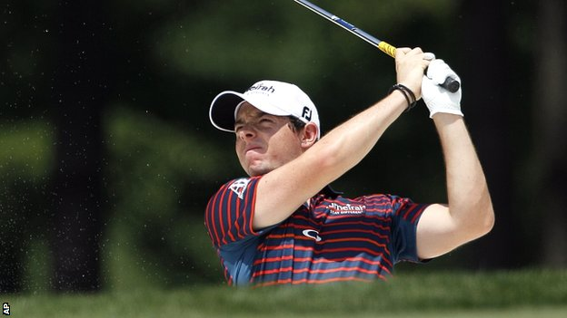 Rory McIlroy during his opening round