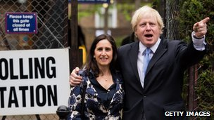 Boris Johnson and wife