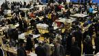Counting of votes at the Richard Dunn Sports Centre, Bradford, for the local council elections