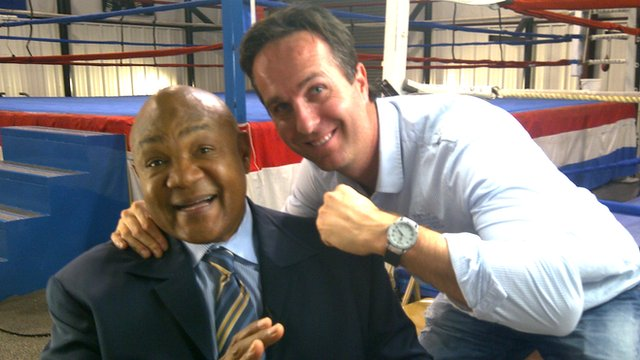 George Foreman and Michael Vaughan