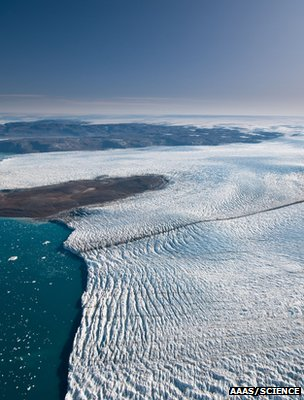 Greenland glacier (Image: AAAS/Science/Ian Joughin)