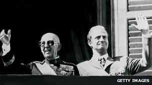 Gen Franco, left, and King Juan Carlos