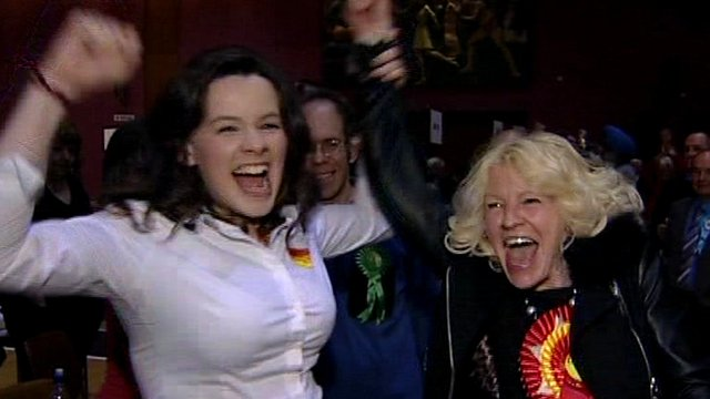 Labour supporters celebrate