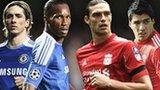 Fernando Torres, Didier Drogba, Andy Carroll and Luis Suarez