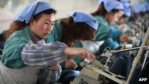 Chinese textile workers - file