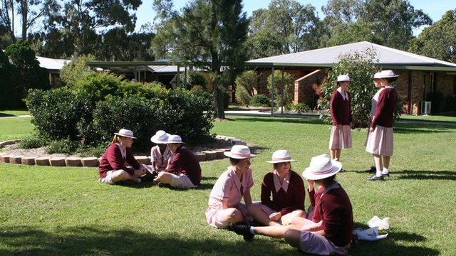 Students from St. John Fisher College in Brisbane, Australia, talk about what matters to them